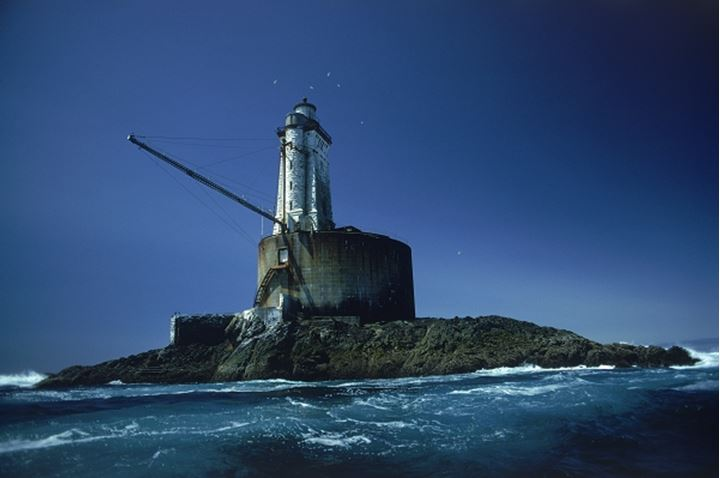 St. George Reef Lighthouse 6 miles off Cresent City in Northern California