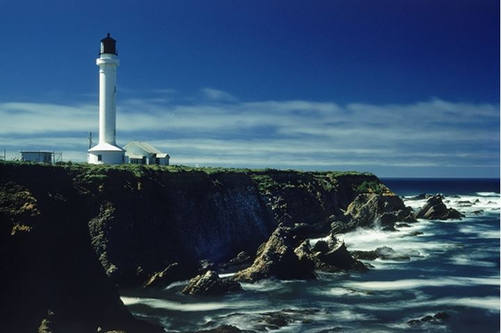Point Arena Lighthouse on Pacific Coast in Northern California