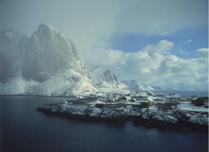 Small fishing village of Hamnoy on Moskenes Island in Lofoten Islands