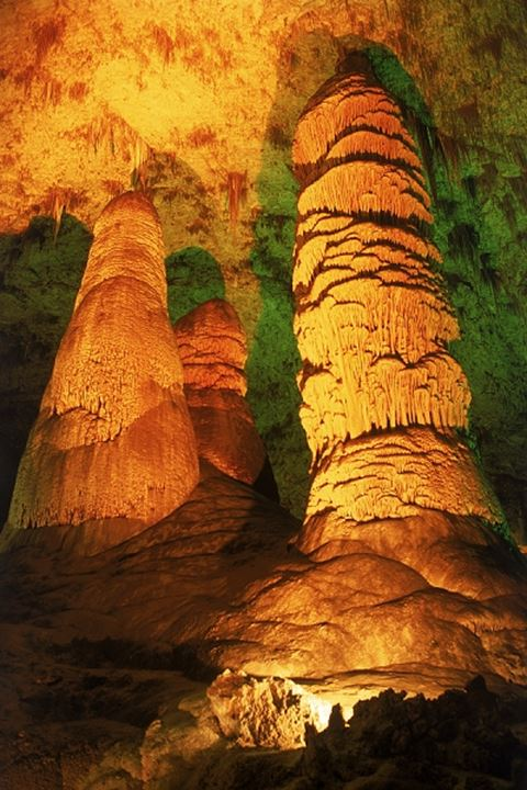 Underground rock formations at Carlsbad Caverns National Park in New Mexico