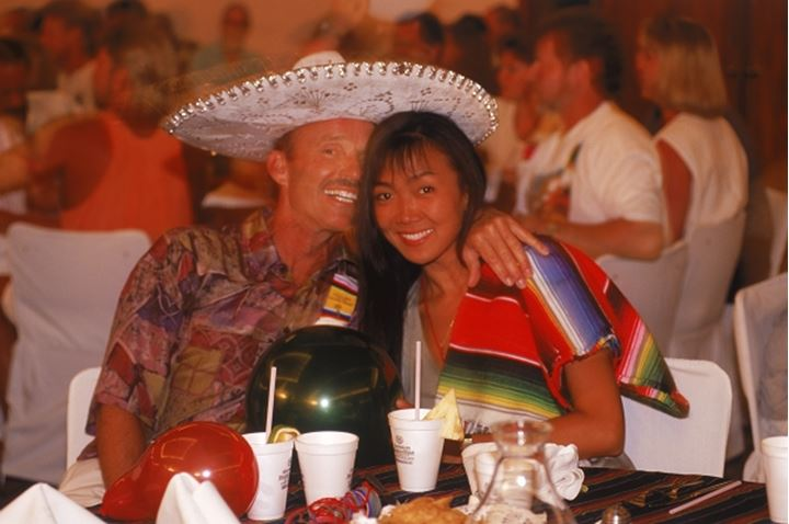 Couple enjoying party time on Mexican holiday