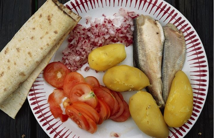 Surstromming, an traditional food of Norrland