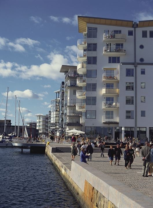 Helsingborg Sweden.House at the harbour.