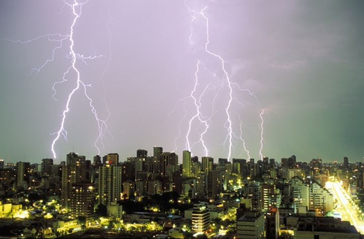 Lightning storm over Buenos Aires