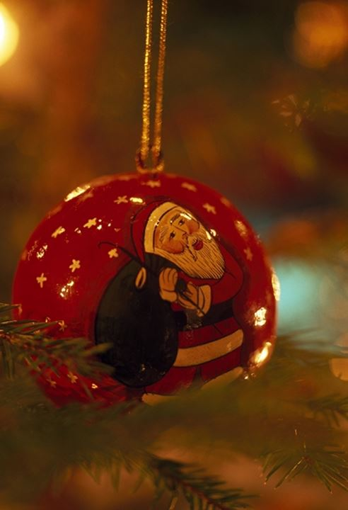 Close-up of a Christmas ornament