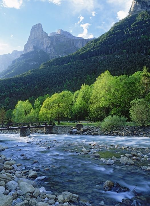 Ara River Valley in Ordesa National Park in Huesca Province Spain