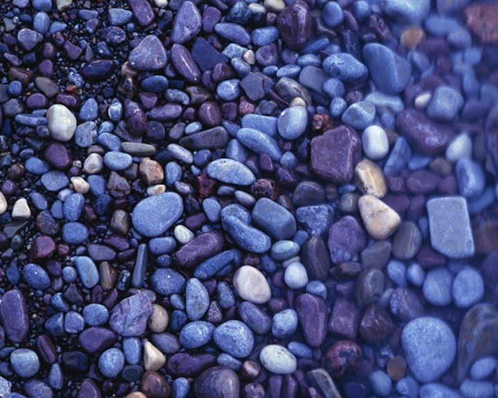 Close-up of pebbles on the beach