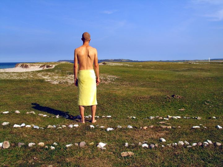 Man standing on a plain