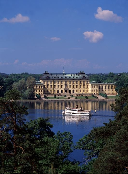 Queen palace in Stockholm, Sweden