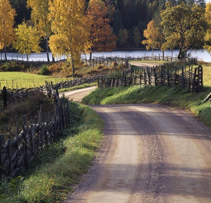 Meandering country road, Smaland, Sweden