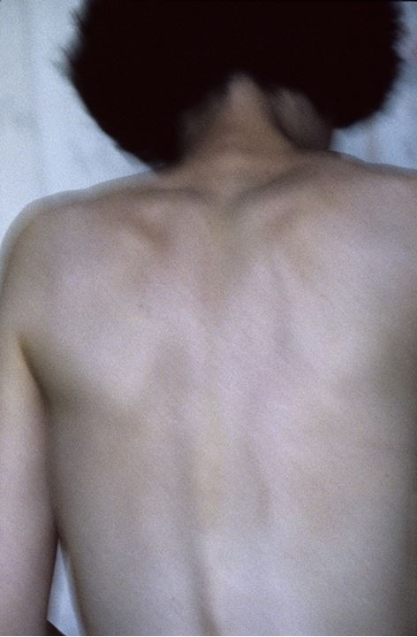 Naked woman's back