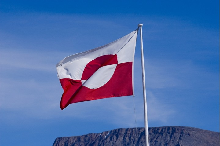 The flag of Greenland