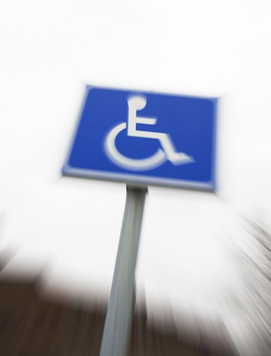 Information signboard for disabled people