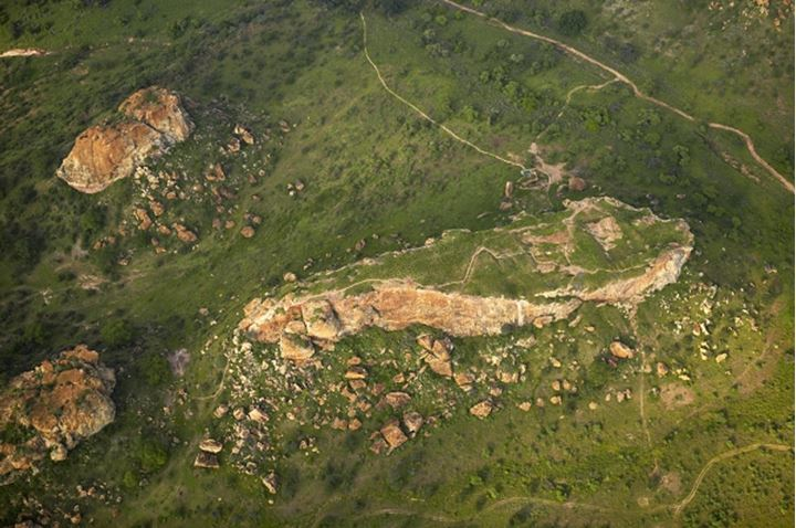 Aerial view of Mapungubwe. Mapungubwe National Park. Limpopo Province. South Africa.