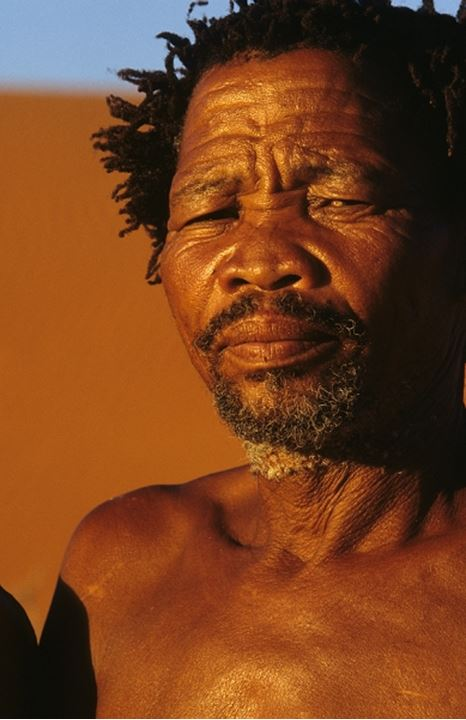Bushman (san) man. Near Kalahari Gemsbok National Park. South Africa