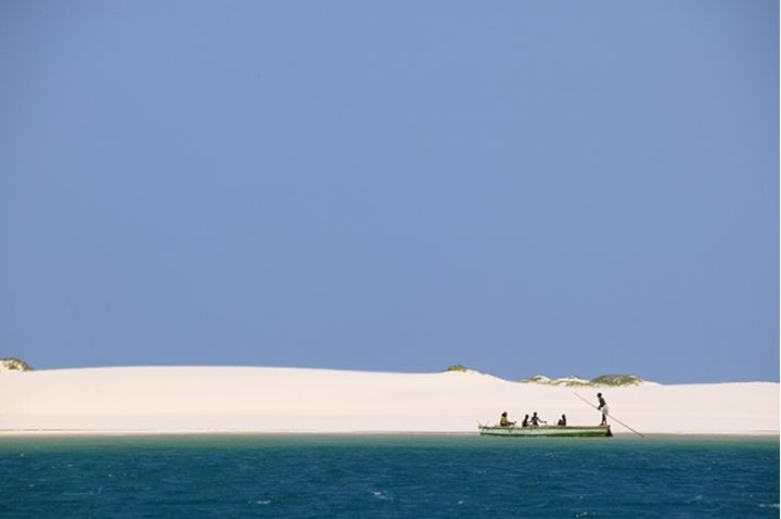 Fishermen on the northern point of Benguerua Island. Mozambique