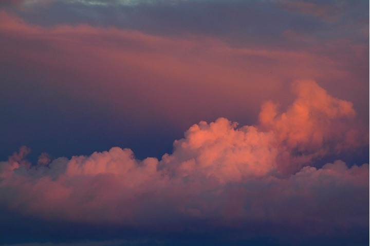 Clouds at sunset. Northern Tuli Game Reserve. Botswana