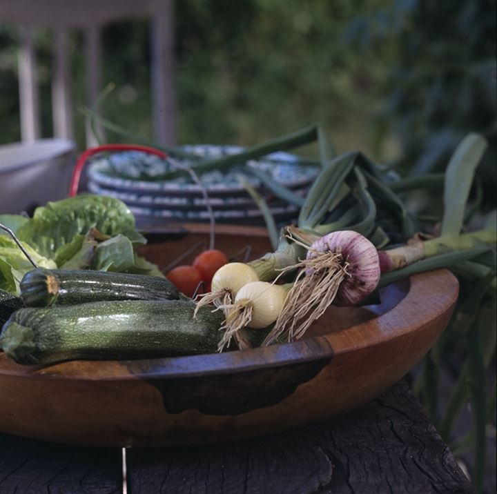 Vegetables on a dish