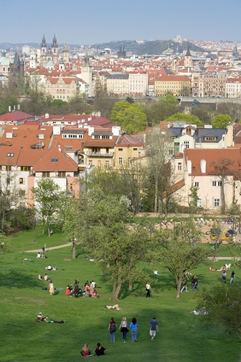 CZECH REPUBLIC PRAGUE PETRIN HILL IN SPRING