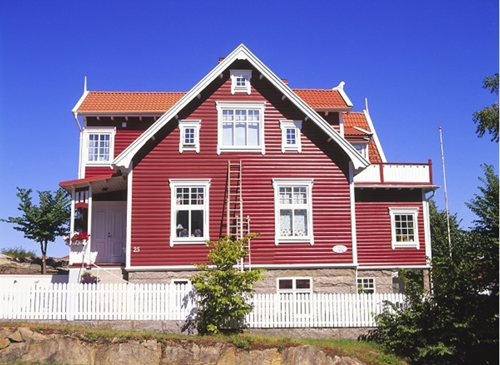 Newly painted house in Lysekil