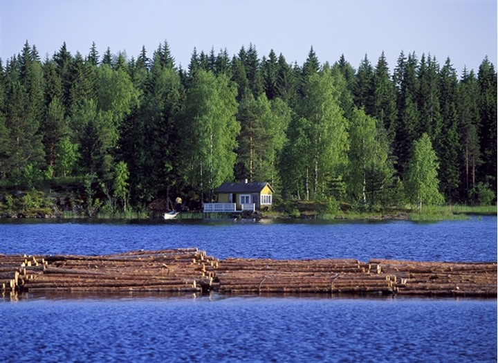 Floating timber, Finland