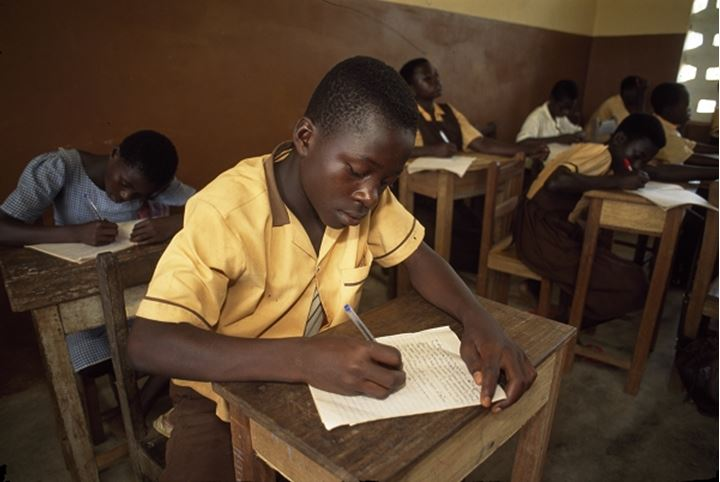 Students sitting in the classroom, Ghana