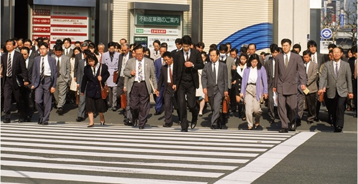 People standing on the zebra crossing