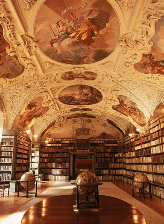 Theological Hall at Strahov Library in Prague Czech Republic