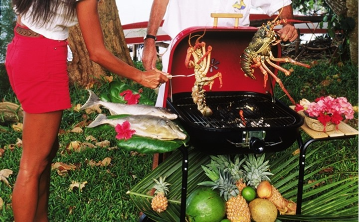 Grilling the sea food