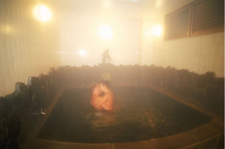Famous hot spring resorts in Beppu Onsen area of Kyushu Japan