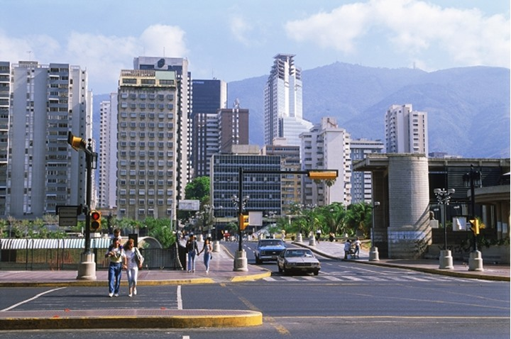 Caracas in the Sabana Grande quarter Venezuela