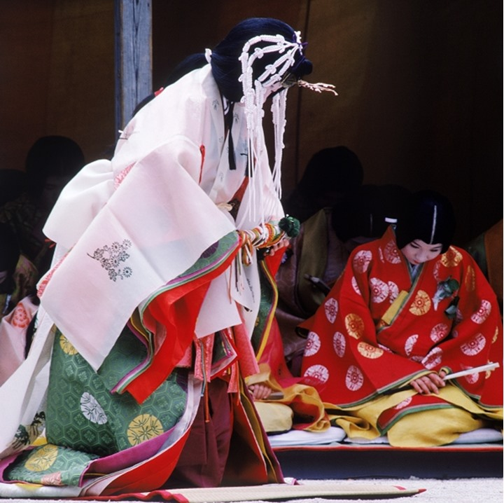 Traditional court ladies at Aoi Matsuri Festival in Kyoto. Japan