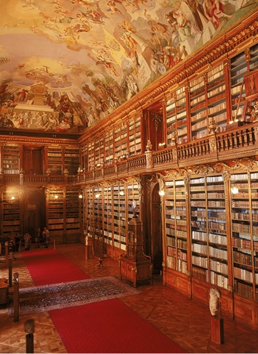 Theological Hall in Strahov Library at Strahov Monastary in Prague   Czech Republic