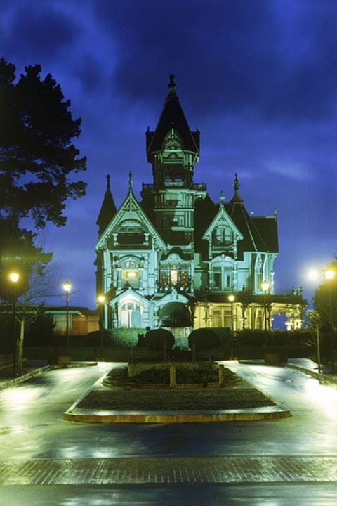 The Carson House is classic Victorian architecture located in Eureka in Northern California