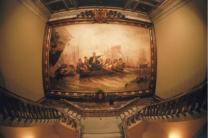 Battle of Lake Erie painting by Powell hanging in the U.S. Capitol Building in Washington D.C.