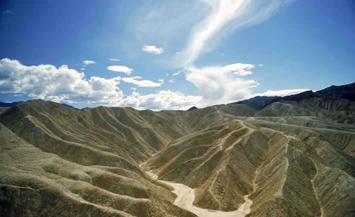 Golden Canyon in Black Mountains of Amargosa Range at Death Valley National Park in California