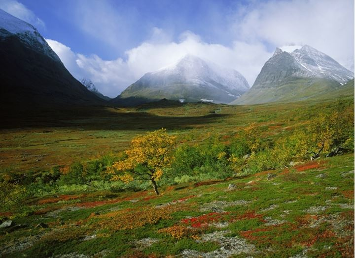 Latjovagge in Kebnekaise Mountains in Swedish Lapland