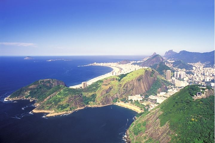 BRAZIL RIO DE JANEIRO VIEW OF RIO FROM THE TOP OF SUGAR LOAF