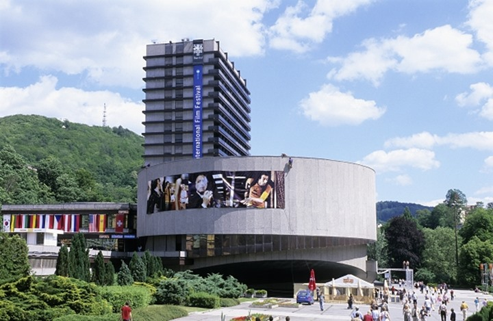CZECH REPUBLIC WEST BOHEMIA KARLOVY VARY CARLSBAD THERMAL SPA TOWN INTERNATIONAL FILM FESTIVAL