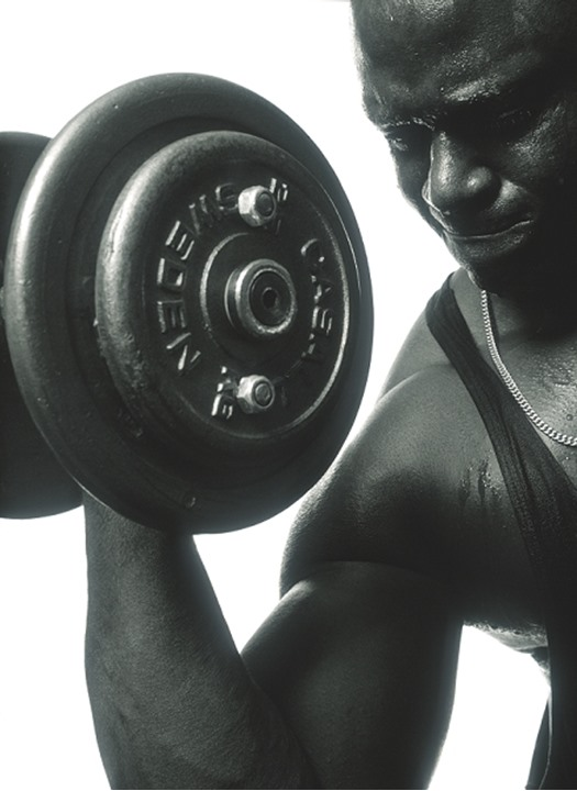 MAN WITH A DUMBBELL.