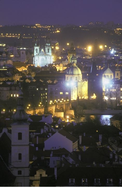 CZECH REPUBLIC PRAGUE CITY OF HUNDRED SPIRES THE OLD TOWN AND CHARLES BRIDGE