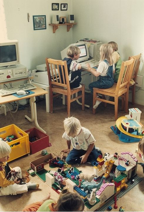 Children playing indoors
