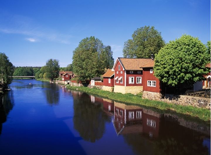 Arboga town by the river, Vastmanlannd