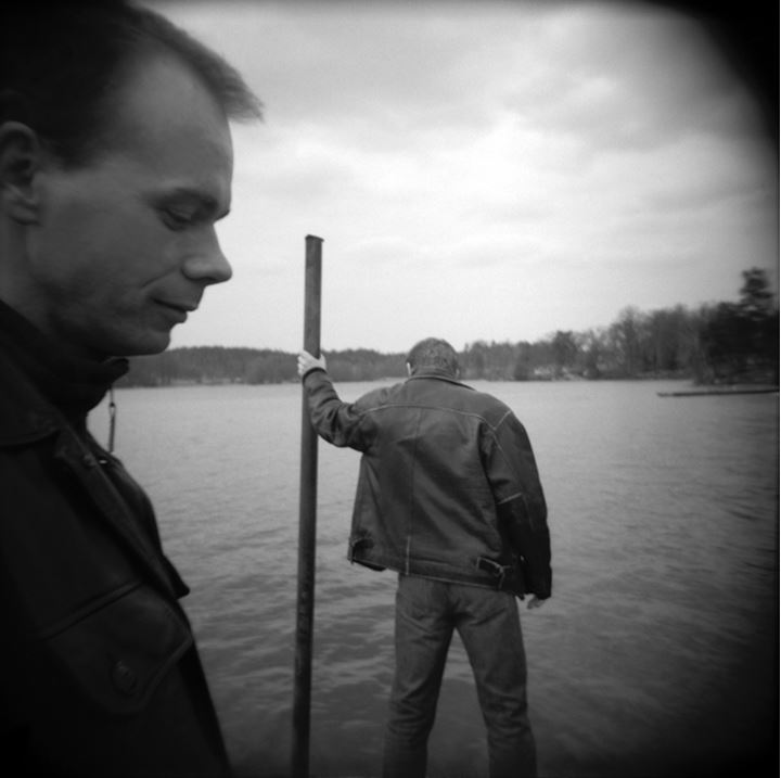 Two men by the sea in Stockholm, Sweden