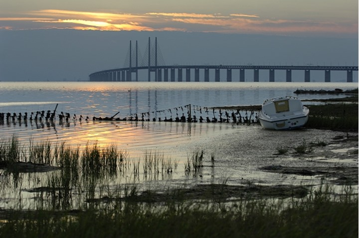 Oresund Bridge, Malmo, Skane, Sweden