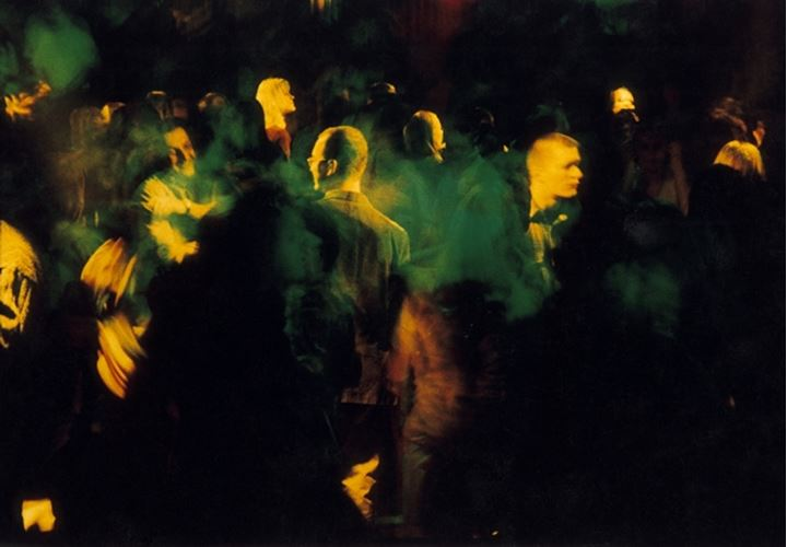 People in a concert at night