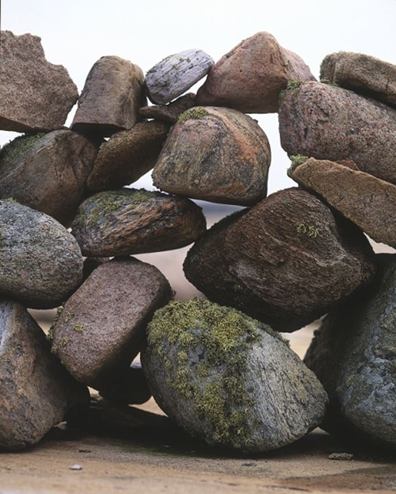 A wall made of stones