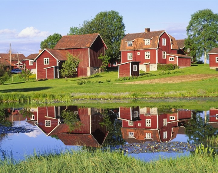 A country village in Dalarna, Sweden