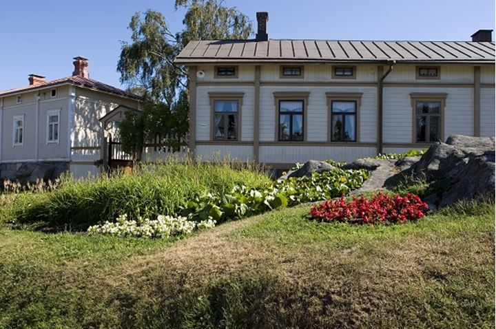 Exterior of a house with lawn at Finland