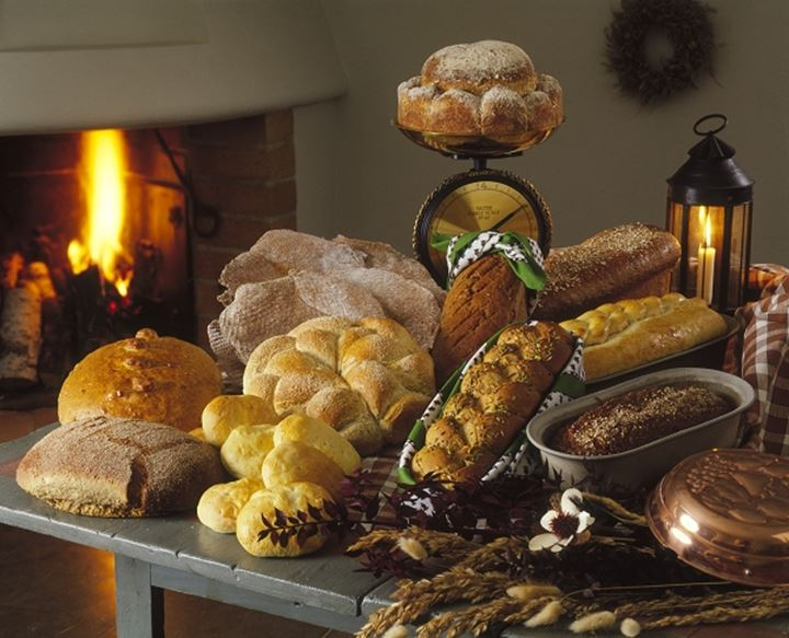 Bakery shop with baked goods